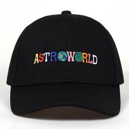100% algodão ASTROWORLD bonés de beisebol Travis Scott unisex Astroworld pai chapéu Cap alta qualidade bordado homem mulheres verão chapéu venda por atacado