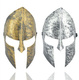 hero masks UK - Spartan warrior mask knight hero venetian masquerade masked ball helmet full face mask halloween fancy dress party vintage masks gold silver