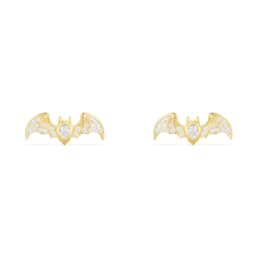 $enCountryForm.capitalKeyWord UK - Golden sterling silver bat earrings,Hand inlaid diamond,Famous brand high-end fashion Sterling silver with diamond jewelry