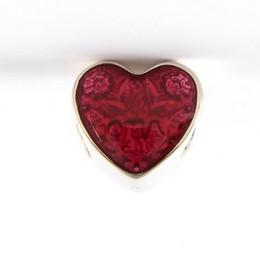 Vente en gros 100% 925 Sterling Silver Latin amour coeur émail Charmes Perles Fit Pandora Charme Bracelets Bijoux Femmes DIY Making