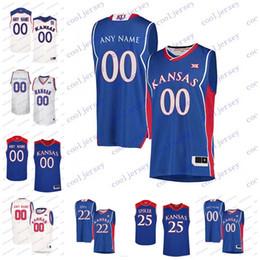 eee0762e757 Custom NCAA Kansas Jayhawks College Basketball Any Name Number Stitched  4  Devonte  Graham 10 Sviatoslav Mykhailiuk 14 Malik Newman Jerseys