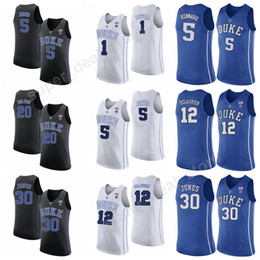 dc322e7ebd7 ... black basketball stitched ncaa jersey; college 5 luke kennard jersey  duke blue devils basketball 2 gary trent jr 34 wendell carter