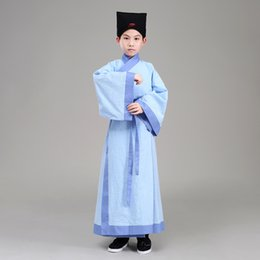 $enCountryForm.capitalKeyWord NZ - Children Cosplay Hanfu Clothes Chinese Ancient Scholar Robe Traditional Performance Clothing Baby Boys Graduation Costume