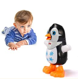 Electronic Pets Toys Swing Dancing With Music Light Penguin Toy For Children Creative Cartoon Birthday Christmas Gift C4721