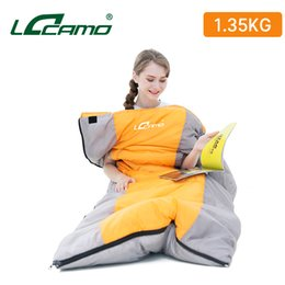 $enCountryForm.capitalKeyWord NZ - 210*85 CM Oversized 3 Season Keep Warm Waterproof Adult Man Women Splicing Double Sleeping Bag And Hands Can Stick Out