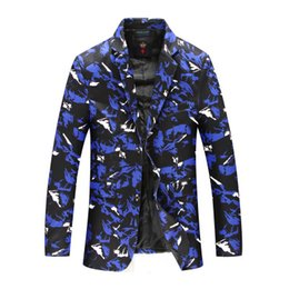 Chinese  8XL Men's and Winter Loose Men's Personality Camouflage Small Suit Fat Casual Suit Jacket CD50 manufacturers