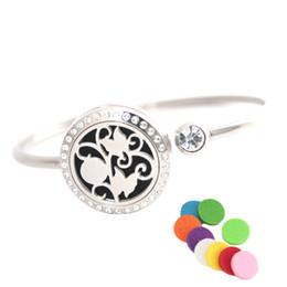 oil bracelets 2019 - 25mm Butterfly beauty Stainless steel Aromatherapy locket Bracelet Bangle essential oil diffuser locket bracelet with 10