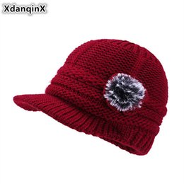03fedba5bdb XdanqinX Winter Women s Earmuffs Hat Plus Velvet Thick Warm Knitted Woolen  Berets New Style Fashion Elegant Female Winter Hats