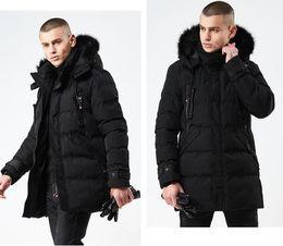 Wholesale puff coats for sale – warmest winter Winter Men s Duck Down Jackets Coats Fur Men Women Lovers Fashion Thick Warm Parka Classic Mens jaqueta masculina J180844
