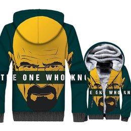 broken bad Australia - Fashion Breaking Bad Jacket Men 2018 Winter Thick Zipper Hoodies Male Harajuku Top TV Funny Coat Green Yellow Outwear Sweatshirt