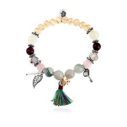 Discount left hand hair - MIARA.L Fashion Leaves Hand String National Romantic Soviet Hand Chain Hair String Beads Ornaments