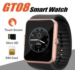 best smartwatch android 2020 - Best selling Smart Watch GT08 Clock With Sim Card Slot Push Message Bluetooth Connectivity Android Phone Smartwatch GT08