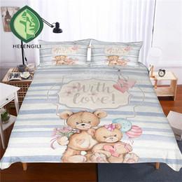 $enCountryForm.capitalKeyWord NZ - HELENGILI 3D Bedding Set Teddy Bear Print Duvet Cover Set Lifelike Bedclothes with Pillowcase Bed Home Textiles #TED-13