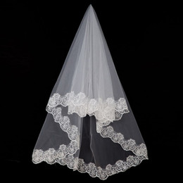 Hot Veils Australia - Free Shipping One Layer Lace Netting Three Meters With Comb Short Bridal Veils Cheap Hot Sale High Quality