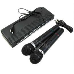 $enCountryForm.capitalKeyWord NZ - OOTDTY Dual 2 Mics Handheld Wireless Cordless Microphone System Professional Receiver