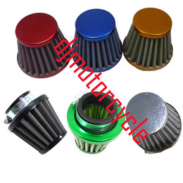 Wholesale 38MM CC Dirt Pit Bike Mini Motocross Motorcycle Engine Air Filter For SDG KLX SSR Red Blue Silver Gold