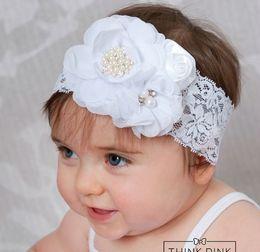 $enCountryForm.capitalKeyWord NZ - Baby Girl Headband Chiffon With Shiny Diamond Flower Newborn Photography Props Hair Accessories 10pcs   Lot.