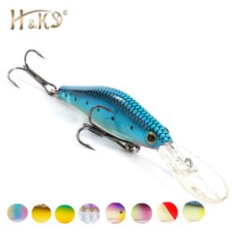 Long Minnow Lures NZ - H&K Super Cheap Fishing Lures,10 Color For Choose, Long Shot Minnow,Crank 95mm 7.5g, Dive 1.5m Fishing Tackle Hard Bait HK010 Y18100806