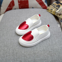 $enCountryForm.capitalKeyWord Australia - 2018 New Children Sneakers Spring Autumn Kids School Shoes For Toddler Girls Flats Casual Tennis Breathable White Leather Shoes