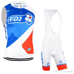 2017 fdj cycling sleeveless jersey team cycling clothing quick dry cycling  bibs set with gel pad bike wear summer Ropa ciclismo D0720 e8197c617