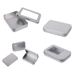 $enCountryForm.capitalKeyWord NZ - HIPSTEEN Mini Tin Box Small Storage Box Metal Storage Tin Silver Case Organizer For Money Coin Candy Key