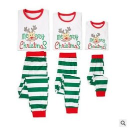 8cc367a2732 Christmas Pajamas Set 2pcs Family Matching Outfits Baby Elk Letter Sleepwear  Mother and Daughter Father Son Matching Clothes Xmas Homewear