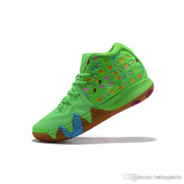 5c8a40bdb4d Cheap new 2018 Mens Kyrie basketball shoes Lucky Charms Green Red Black  Mamba Mentality Kobe Irving 4 IV sneakers Trainers with box for sale