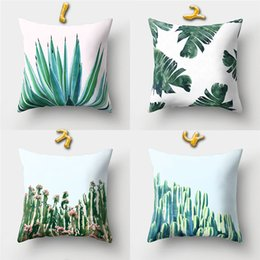 Violet plants online shopping - Styles cm Green Plant Cushion Covers Linen Bedroom Seat Decorative Pillow Home Decor Kitchen Accessories Party Decoration