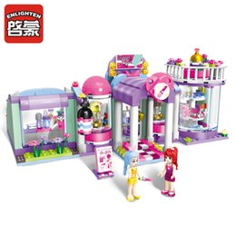 Discount girl friends blocks - Wholesale-Enlighten Building Block Girls Friends shirley's Beauty SPA Shop 3 Figures 485pcs Educational Bricks Toy