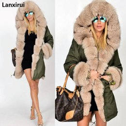 Red woven belt online shopping - Plus Size S XL Winter Jacket Coat New Fashion Women Hooded Overcoat Faux Fur Cotton Fleece Female Parkas Hoodies Long Coat C18110601