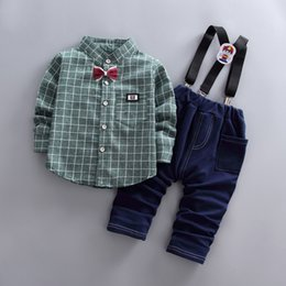 $enCountryForm.capitalKeyWord Australia - 2018 Autumn Baby Boys Clothing Set Children Boys Tracksuit 2 pcs Coat+overalls pants Clothes suit kids Boys Clothing Outfits 1-5Y