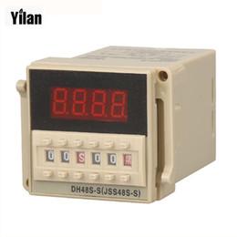 Haute qualité DH48S-S Répétition du cycle minuterie avec prise (AC 220V 110V 380V 36V DC / AC 24V 12V alternative)