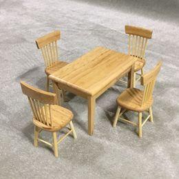 $enCountryForm.capitalKeyWord NZ - 5pcs 1 12 Dollhouse Miniature Dining Table Chair Wooden Furniture Set (Wood Color)