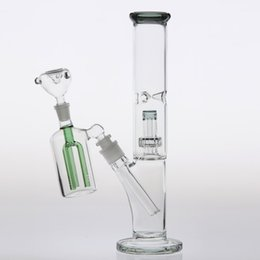 China 12.5 Inch Glass Bongs With Ash-Catcher Downstem 14.4mm Cheap Two Function Glass Bong Dab Rig Smoking Water Pipe Inline Birdcage Percolator supplier 12.5 inch suppliers