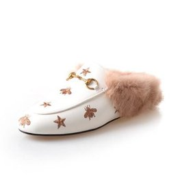 $enCountryForm.capitalKeyWord UK - 33-43 big size!Ladies luxury fur mule slippers leather flat Suede shoes Flower snake mule fashion outdoor slippers fall And Winter shoes867
