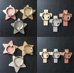 Wholesale Five pointed star ring bracket cross phone buckle creative mobile phone ring holder stand manufacturers large spot