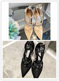 Famous Wedding Designer Dress Canada - 2018 Leather Spike Heels with beading Women Pumps Famous Brand Designer Prom Party Dress Shoes For Wedding Bride Shoes Woman