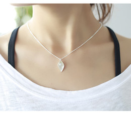Women Imitation Pearl Necklace Canada - 1pc wholesaleSterling Silver Imitation Pearls Flowers Dew Necklaces & Pendants For Women Fashion Sterling-silver-jewelry ZI-025
