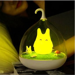 Art decor lAmp online shopping - dhl FREE Newest Rechargeable Night Lamp Totoro Cute Portable Touch Sensor USB LED Lights For Baby Bedroom Sleep Lighting Art Decor lighting