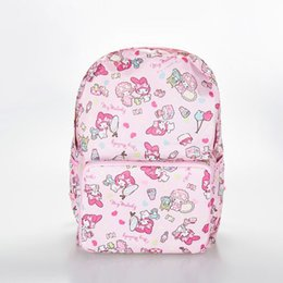 Wholesale Cartoon Cute Hello Kitty Female Schoolbag Kawaii Bear folding backpack travel Portable Waterproof Bag Drop Ship