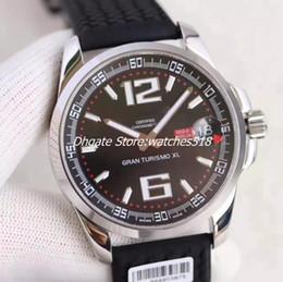 Power Reserve Men Sport Watches NZ - New Top Mens Automatic Watch Date Men Chronometer Rubber 168457 Swiss Watches Power Reserve Turismo Sapphire Gran XL Wristwatch