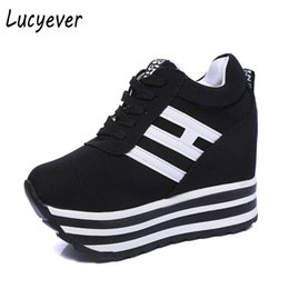 China Lucyever Women Ankle Boots Height Increasing Platform Casual Shoes Woman Spring Autumn Hidden Wedge Comfortable Sneaker Creeper supplier ankle sneakers women suppliers