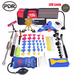 dent board Australia - PDR car dent repair tools kit Paintless Dent Removal tool set slide hammer dent lifter LED lamp Reflector Board DIY hand tools