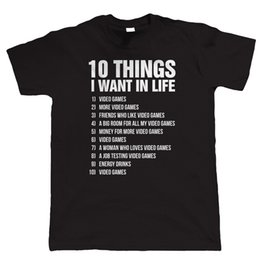 l video UK - 10 Things Mens Funny Gamer T Shirt, Gift XBox PS4 Video Games PC Gamer