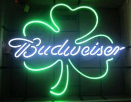 NeoN shamrock light online shopping - 24 inches Budweisers Lucky Shamrock Clover Neon Sign Flex Rope Neon Light Indoor Outdoor Decoration RGB Voltage V V