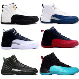 wool shoes NZ - Fashion 2018 12 shoes wool Black Grey FLU game TAXI French blue gym red wolf Grey Playoff Gamma Blue GS Barons