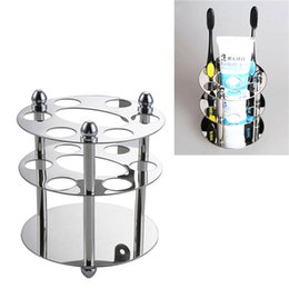 Wholesale Stainless Steel Toothbrush Rack Holder Bathroom Accessories Wall Mounted Toothpaste Razor Holder Toothbrush Toothpaste Storage