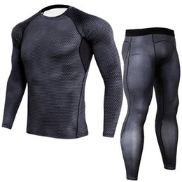 $enCountryForm.capitalKeyWord Canada - Body-building Fitness Tight Sport Suit Men Long Sleeve Shirt +Pant Men's Running Set Compression Gym Quick Dry Men's Sportswear
