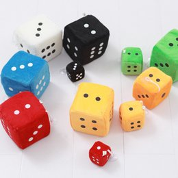$enCountryForm.capitalKeyWord NZ - 4*4cm Plush Dice Cloth Doll Pillow Pendant Children Games Props Toys Gift Kids Key Clip Stuffed Chuck Pendant 2000pcs AAA1208