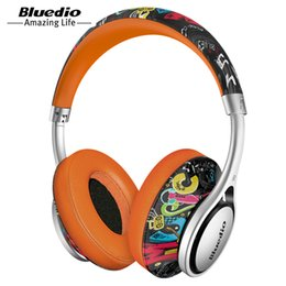 fashionable wireless headphones UK - Bluedio A2 Bluetooth Headphones Headset Fashionable Wireless Headphones for phones and music